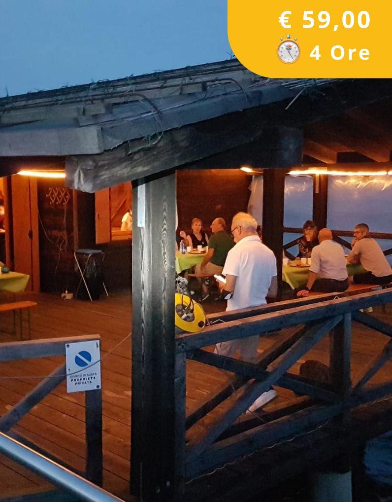 Valle zappa illuminata e cena al capanno